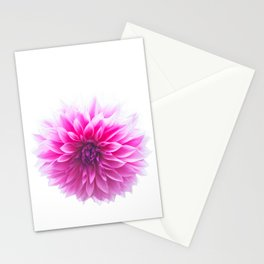 Dahlia On White Stationery Cards