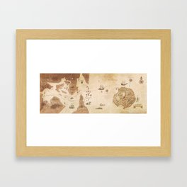 The Antlered Ship_Map Endpapers Framed Art Print
