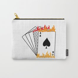 Poker card game Skat poker evening flames diamond cards Carry-All Pouch