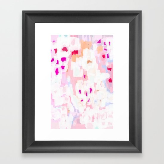 Netta - abstract painting pink pastel bright happy modern home office dorm college decor by charlottewinter