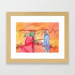fiery duel Framed Art Print