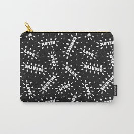Positive Vibes on Black Carry-All Pouch
