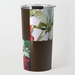Mixed color Poinsettias 1 Blank Q3F0 Travel Mug