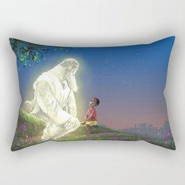 God In My Garden Rectangular Pillow