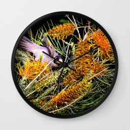 Dropping In For Lunch Wall Clock