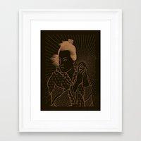 oriental Framed Art Prints featuring Oriental. by Von Haggen