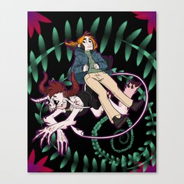 Hey Diddles Diddle, the cat and the fiddle Canvas Print