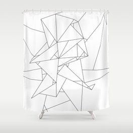 Abstract Origami Shower Curtain