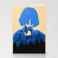 bioshock infinite Stationery Cards featuring Bioshock Infinite Elizabeth by Bill Pyle