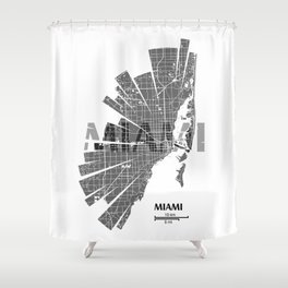 Miami Map Shower Curtain