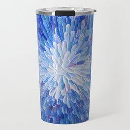 Electric blue, ultramarine, petals, flower - Abstract #26 Travel Mug