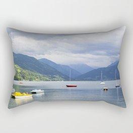 Blue mountain lake Rectangular Pillow