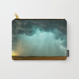 Open the Heavens - Panoramic Storm with Teal Hue in Northern Oklahoma Carry-All Pouch