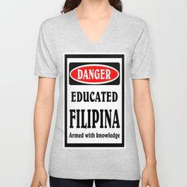 educated filipina. Unisex V-Neck