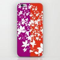 climbing iPhone & iPod Skins featuring Climbing Flowers by Mari Biro