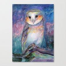 Owl Guardian of Memories Canvas Print
