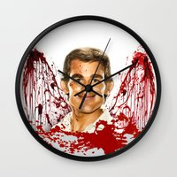 dexter Wall Clocks featuring Dexter by Giampaolo Casarini