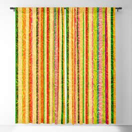 Colorful Stripes and Curls Blackout Curtain