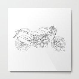 Ducati Monster 695d 2007 Metal Print