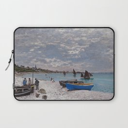 "Claude Monet ""The Beach at Sainte-Adresse"" Laptop Sleeve"