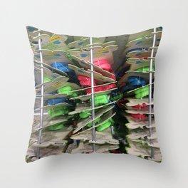 Straps. Fashion Textures Throw Pillow