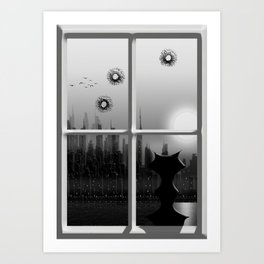 Kitty and the City #2 Art Print