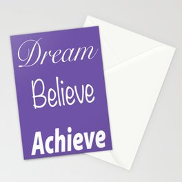 Dream Believe Achieve Ultra Violet Stationery Cards