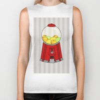 gumball Biker Tanks featuring Gumball Machine. by Bedelia June