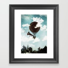Swan Lake Up in the Air Framed Art Print