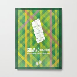 Suman (sticky rice in banana or coconut leaves) Metal Print