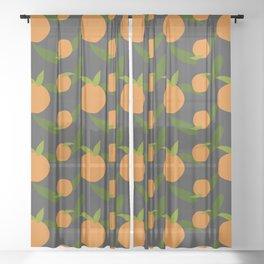 Mangoes in the dark Sheer Curtain