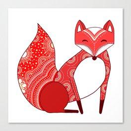 Touchy Fox Canvas Print