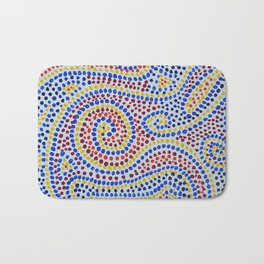 Swirling Dots 1 Bath Mat