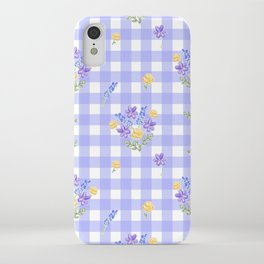 Spring picnic bouquets in Provence blue iPhone Case