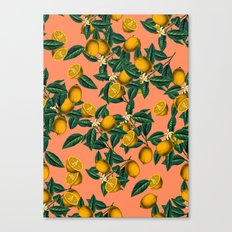 Lemon and Leaf Canvas Print