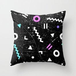 Memphis Grunge Throw Pillow