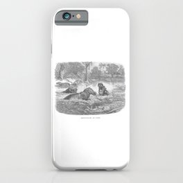 Hippopotami at Home iPhone Case