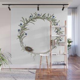 Spring Wreath Wall Mural