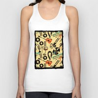 blankets Tank Tops featuring Jazz Rhythm (positive) by Chicca Besso