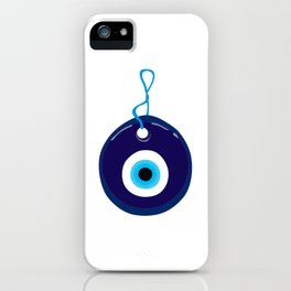 Turkish Blue Eye Bead iPhone Case
