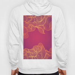 Heat Wave Abstract Waves Hoody