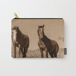 Wild_Horses Sepia 3501 - Nevada Carry-All Pouch