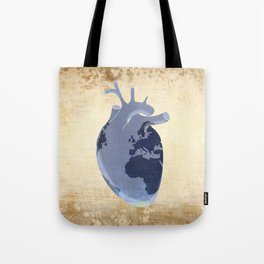 The earth is our heart - EARTH DAY '16 - all artist profits to be donated Tote Bag