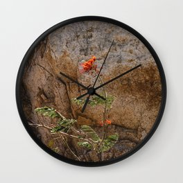 Mexico Mountain Flower Wall Clock