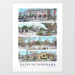 Davis Panorama Poster: 2nd St Art Print
