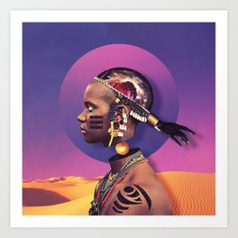 Fulani Art Print