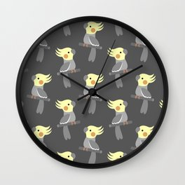 Cute cockatiel Wall Clock