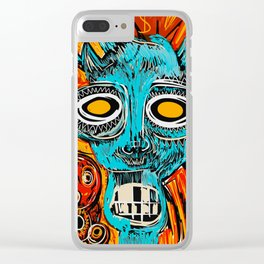 Blue Devil Clear iPhone Case