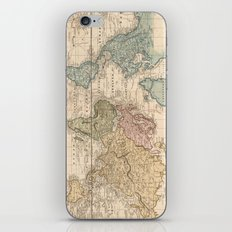 Vintage Map of The World (1823) 2 iPhone & iPod Skin