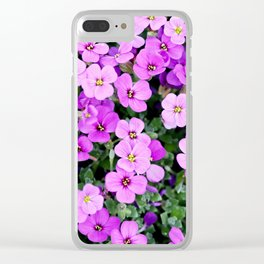 purple flowers Clear iPhone Case